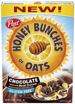 box of honey bunches of oats gluten free cereal