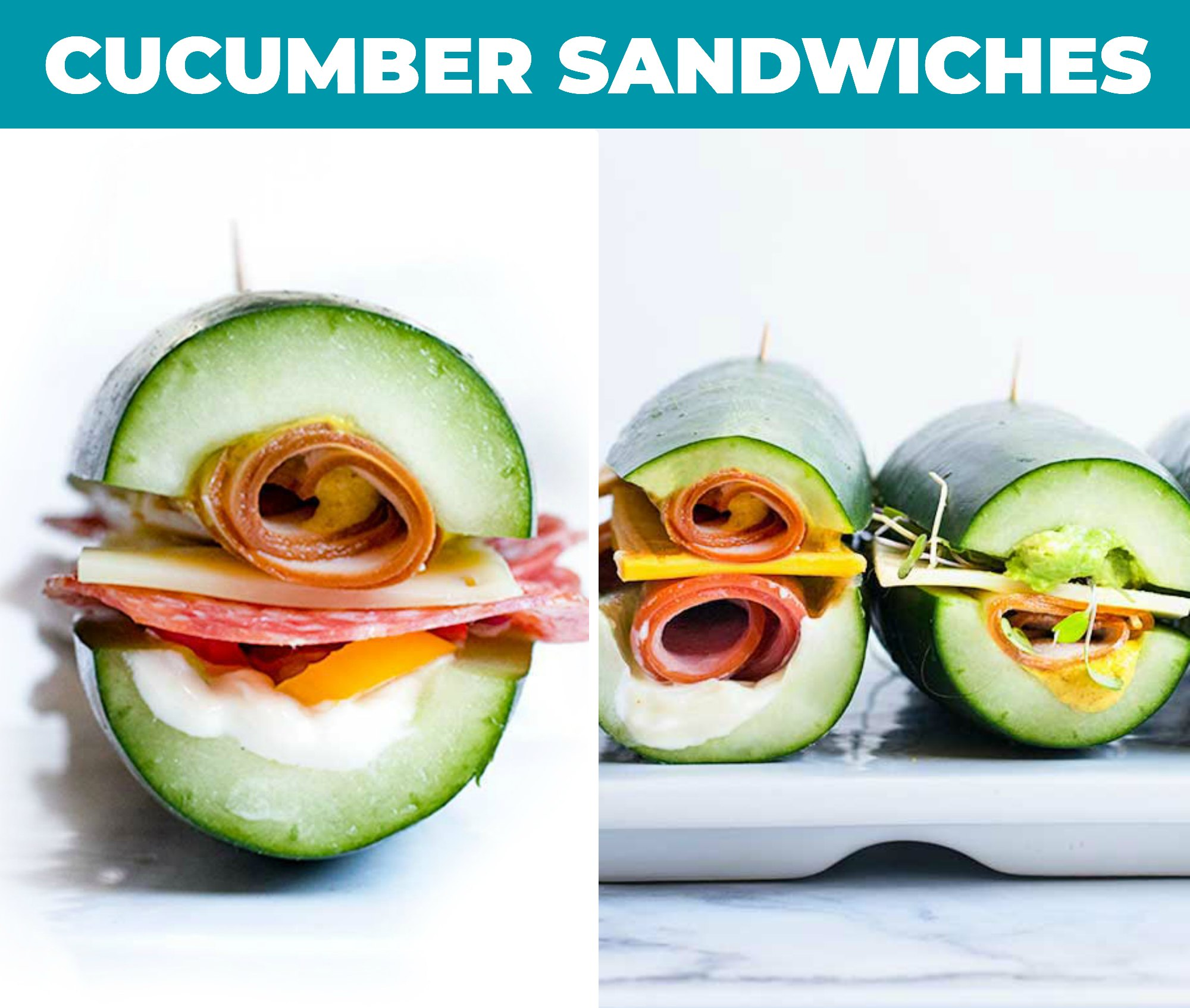 Images of cucumber sandwiches