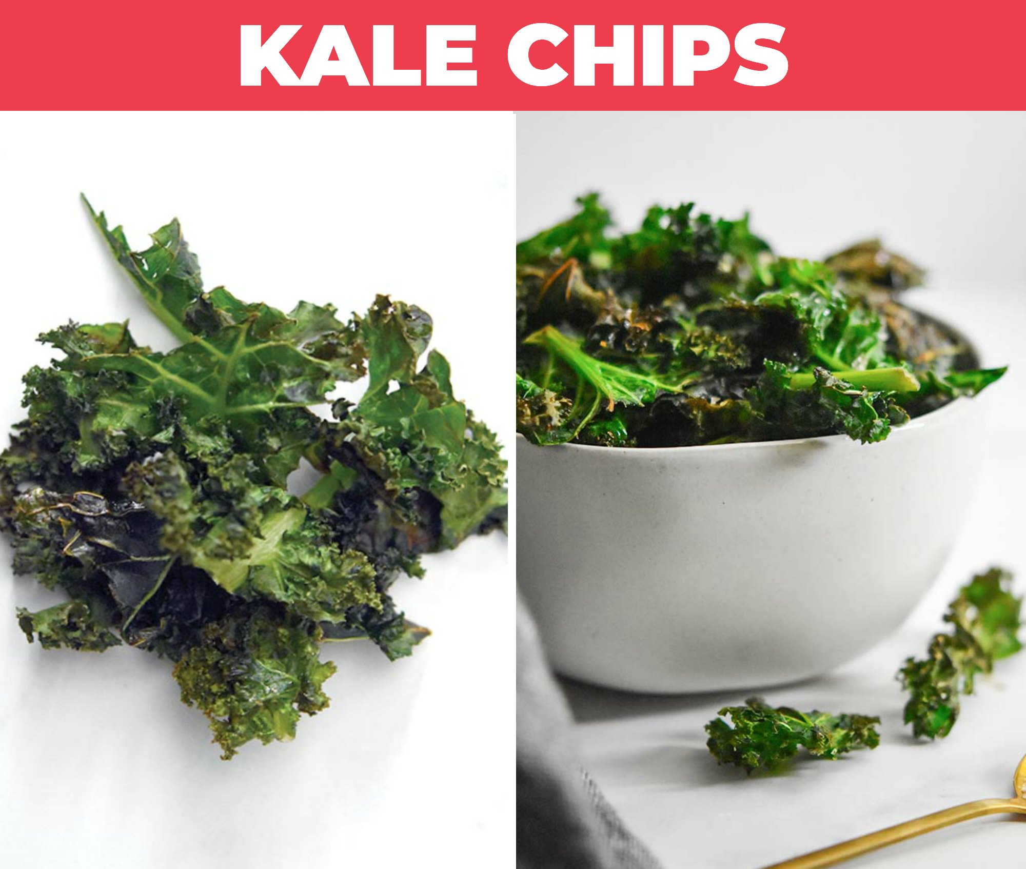 Images of kale chips