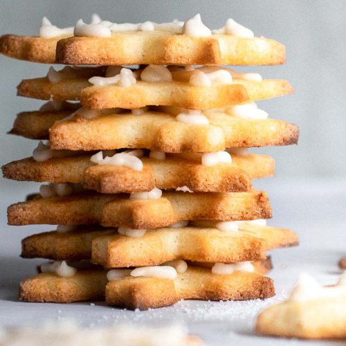 A pile of almond flour sugar cookies