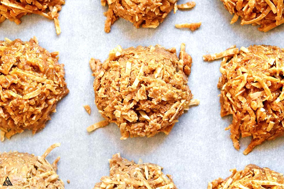 Top view of healthy no bake cookies