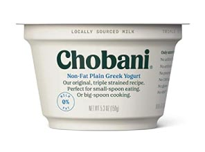 low carb greek yogurt, chobani
